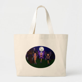 Halloween Faeries The Hallow Sisters Large Tote Bag