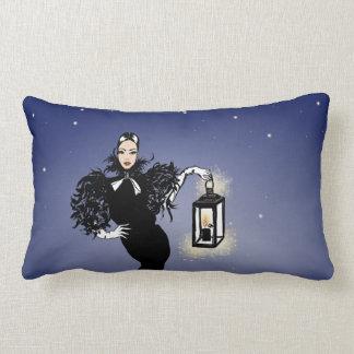 Halloween Fashionillustration Witch Night Lumbar Pillow