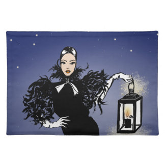 Halloween Fashionillustration Witch Night Placemat