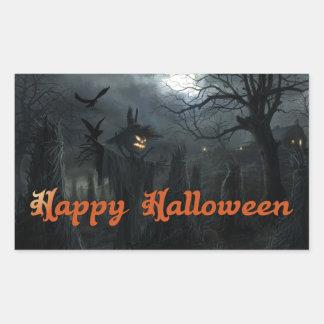 Halloween Field of Death Rectangle Sticker