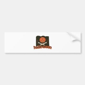Halloween Flag Bumper Sticker