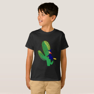 Halloween Flying Witch Broom Cactus Trick Treat T-Shirt