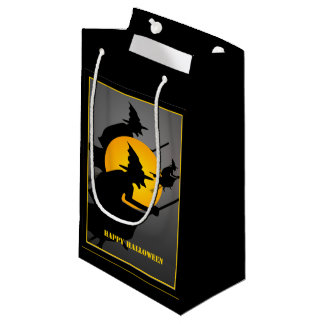 Halloween Flying Witch Funny SGB Small Gift Bag