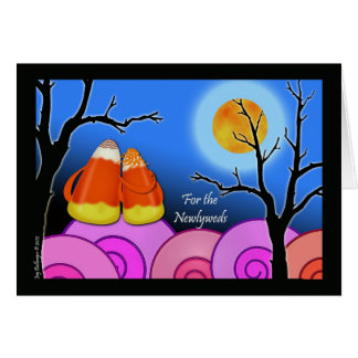 Halloween for Newlywed Couple, Candy Corn Card