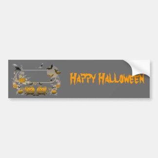 Halloween Frame Car Bumper Sticker