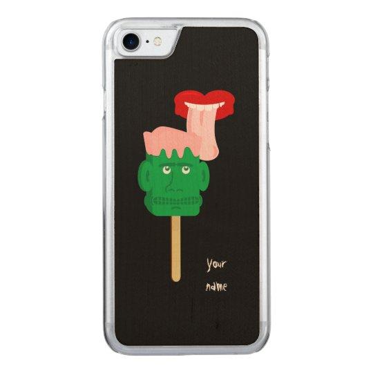 Halloween Frankenstein Ice Block Carved iPhone 8/7 Case