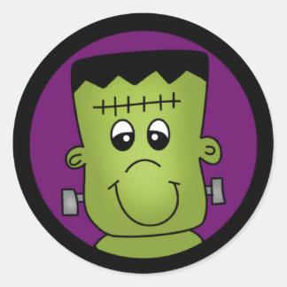 Halloween Frankie Classic Round Sticker