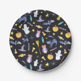 Halloween Friends Paper Plate