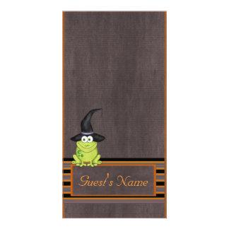 Halloween Frog Custom Photo Card