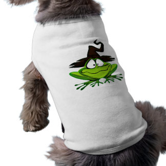 HALLOWEEN FROG WITCH DOGGIE T-SHIRT