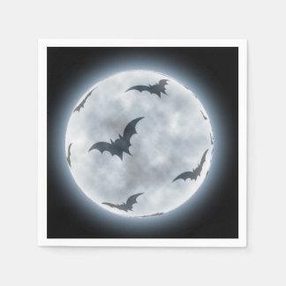 Halloween Full Moon Bats design, Disposable Napkins