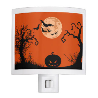 Halloween Full Moon Pumpkin Night Light