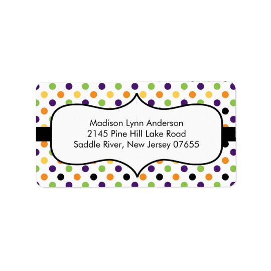 Halloween Fun Dots  Return Address Labels. Label