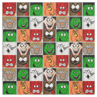 Halloween Fun Faces Fabric