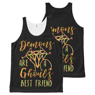 Halloween Funny Demons are a Ghouls Best Friend All-Over-Print Tank Top
