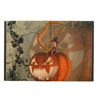 Halloween, funny pumpkin with cute witch powis iPad air 2 case