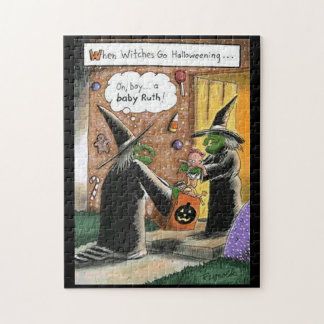 Halloween Funny Witches Trick or Treat Puzzles