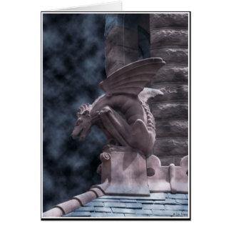 Halloween Gargoyle Card