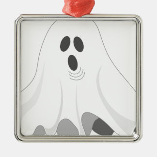 Halloween Ghost - BOO! Metal Ornament