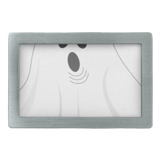 Halloween Ghost - BOO! Rectangular Belt Buckles