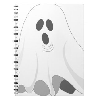 Halloween Ghost - BOO! Spiral Notebook