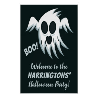 Halloween Ghost custom text party poster