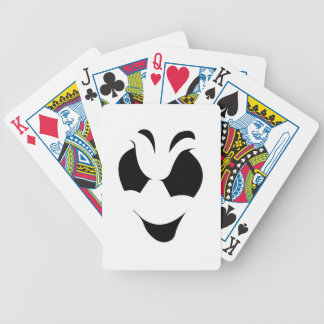 Halloween Ghost Face Bicycle Playing Cards