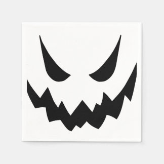 Halloween Ghost Face Cartoon Illustration01 Paper Napkin