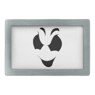 Halloween Ghost Face Rectangular Belt Buckles