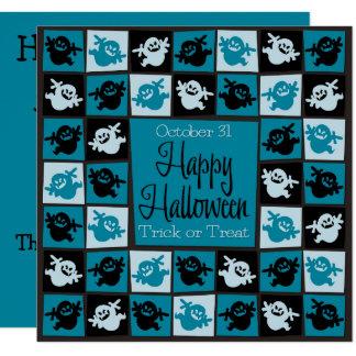 Halloween ghost mosaic card