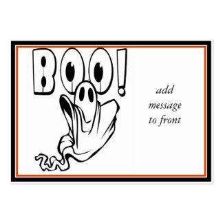 """Halloween Ghost says """"BOO!"""" Large Business Card"""