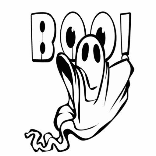 "Halloween Ghost says ""BOO!"" Photo Cutout"
