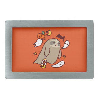 Halloween Ghost Sloth Belt Buckles