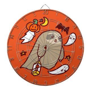 Halloween Ghost Sloth Dartboard