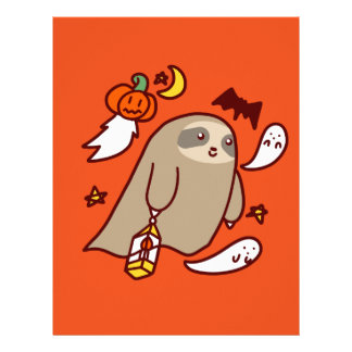 Halloween Ghost Sloth Letterhead