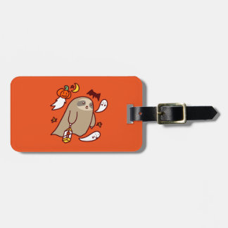 Halloween Ghost Sloth Luggage Tag
