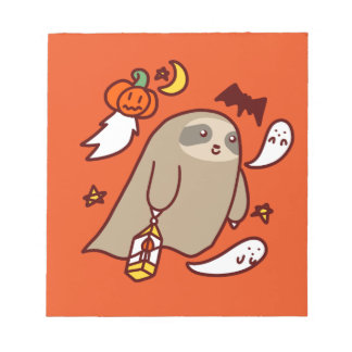Halloween Ghost Sloth Notepad