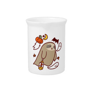 Halloween Ghost Sloth Pitcher