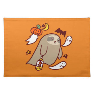 Halloween Ghost Sloth Place Mat