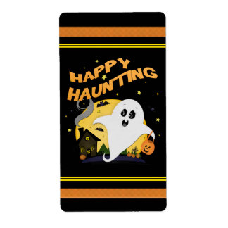 Halloween Ghost Treat Bag Labels