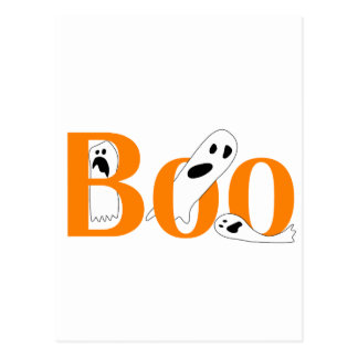 Halloween ghostly boo t-shirts and gifts postcard
