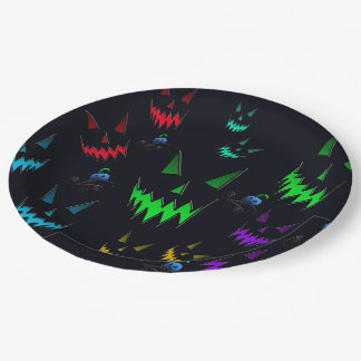 Halloween Ghostly Jack O' Lanterns Paper Plate