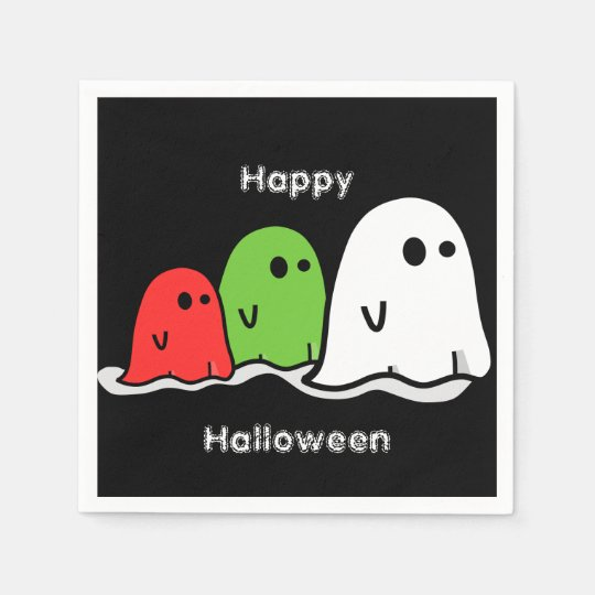 Halloween Ghosts and Ghoulies Cocktail Napkins Paper Napkins