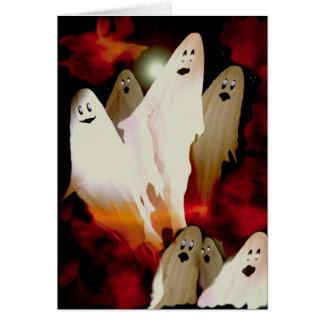 Halloween Ghosts Card