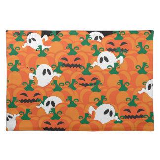 Halloween Ghosts Haunted Pumpkin Patch Place Mats