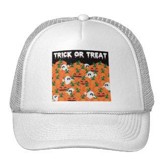 Halloween Ghosts Haunted Pumpkin Patch Trucker Hat