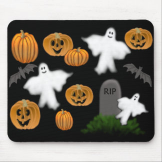 Halloween Ghosts & Pumpkins Mousepad