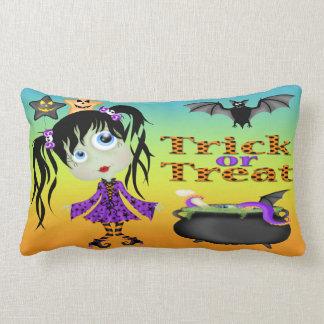 Halloween Ghoul Girl Lumbar Pillow