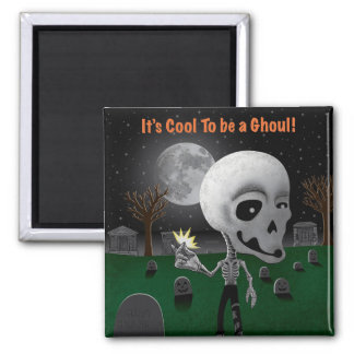 Halloween Ghoul Square Magnet