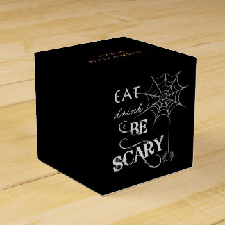 Halloween Gift Box with Spider Web